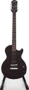 Musical Instruments:Electric Guitars, 2007 Epiphone Special II Black Solid Body Electric Guitar, Serial #SI07077360....
