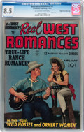 Golden Age (1938-1955):Romance, Real West Romances #1 Mile High pedigree (Crestwood, 1949) CGC VF+ 8.5 Off-white to white pages....