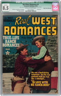 Golden Age (1938-1955):Romance, Real West Romances #3 Mile High pedigree (Crestwood, 1949) CGC Qualified VF+ 8.5 Off-white to white pages....