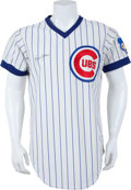Baseball Collectibles:Uniforms, 1976 Bruce Sutter Game Worn, Signed Chicago Cubs Rookie Jersey....