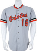 Baseball Collectibles:Uniforms, 1982 Scott McGregor Game Worn, Signed Baltimore Orioles Jersey....