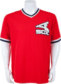 Baseball Collectibles:Uniforms, Early 1980's Carlton Fisk Game Worn Batting Practice Jersey....
