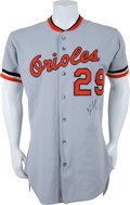 Baseball Collectibles:Uniforms, 1982 Ken Singleton Game Worn, Signed Baltimore Orioles Jersey....