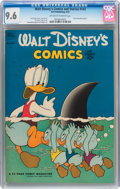Golden Age (1938-1955):Cartoon Character, Walt Disney's Comics and Stories #143 (Dell, 1952) CGC NM+ 9.6 Off-white to white pages....