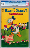 Golden Age (1938-1955):Cartoon Character, Walt Disney's Comics and Stories #132 (Dell, 1951) CGC NM 9.4 Off-white to white pages....