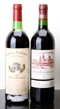 Red Bordeaux, Chateau Cos d'Estournel . 1989 St. Estephe Bottle (1).Chateau Lanessan . 1982 Haut Medoc hs, bsl, tl Bo... (Total:2 Btls. )