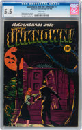 Golden Age (1938-1955):Horror, Adventures Into The Unknown #1 (ACG, 1948) CGC FN- 5.5 Whitepages....