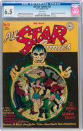 Golden Age (1938-1955):Superhero, All Star Comics #33 (DC, 1947) CGC FN+ 6.5 White pages....