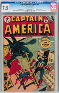 Golden Age (1938-1955):Superhero, Captain America Comics #60 (Timely, 1947) CGC VF- 7.5 Off-white to white pages....