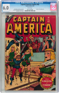 Golden Age (1938-1955):Superhero, Captain America Comics #62 (Timely, 1947) CGC FN 6.0 White pages....