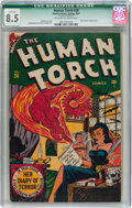 Golden Age (1938-1955):Superhero, The Human Torch #26 (Timely, 1947) CGC Qualified VF+ 8.5 Off-white to white pages....