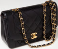 Luxury Accessories:Bags, Heritage Vintage: Chanel Black Lambskin Leather Classic Single FlapBag with Gold Hardware. ...