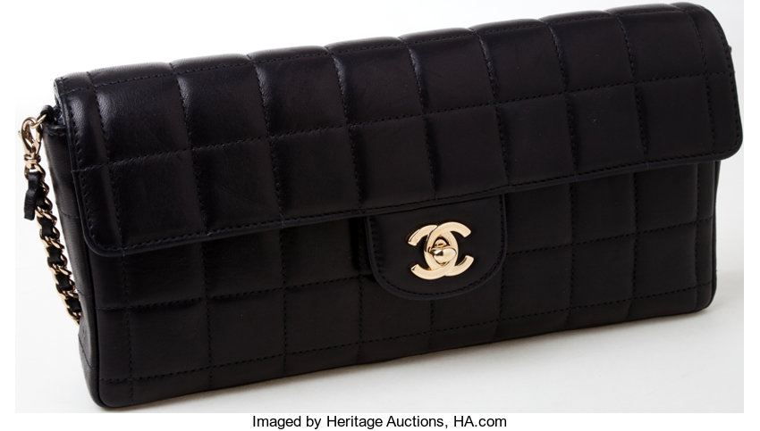 471517c3f919f5 ... Luxury Accessories:Bags, Heritage Vintage: Chanel Black Quilted  Lambskin Leather Single FlapBag with ...