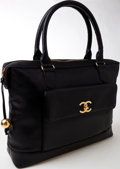 Luxury Accessories:Bags, Heritage Vintage: Chanel Black Caviar Leather Large Tote. ...
