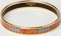 Heritage Vintage: Hermes Gold and Orange Enamel Bangle