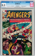 Silver Age (1956-1969):Superhero, The Avengers #7 (Marvel, 1964) CGC VF+ 8.5 Off-white pages....