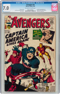 Silver Age (1956-1969):Superhero, The Avengers #4 (Marvel, 1964) CGC FN/VF 7.0 Off-white to white pages....