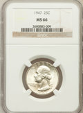 Washington Quarters: , 1947 25C MS66 NGC. NGC Census: (596/189). PCGS Population (607/59).Mintage: 22,556,000. Numismedia Wsl. Price for problem ...