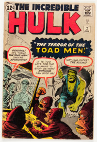 The Incredible Hulk #2 (Marvel, 1962) Condition: GD/VG