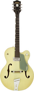 Musical Instruments:Electric Guitars, 1959 Gretsch Anniversary Two-Tone Smoke Green Hollow-Body Electric Guitar, Serial # 30393. ...