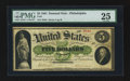 Large Size:Demand Notes, Fr. 2 $5 1861 Demand Note PMG Very Fine 25.. ...