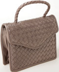 Luxury Accessories:Bags, Heritage Vintage: Bottega Veneta Metallic Intrecciato Evening Bag....