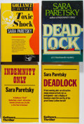 Books:Mystery & Detective Fiction, Sara Paretsky. Group of Four First Editions. Various, 1982-1988.Toxic Shock is signed and inscribed. Very good ... (Total: 4Items)