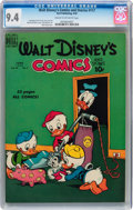Golden Age (1938-1955):Cartoon Character, Walt Disney's Comics and Stories #117 (Dell, 1950) CGC NM 9.4 Creamto off-white pages....