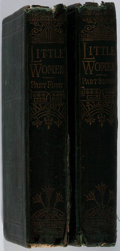 Books:Literature Pre-1900, Louisa May Alcott. Little Women. Vol. I & II. Roberts Brothers, 1881. Later edition. Rubbing and staining to clo... (Total: 2 Items)