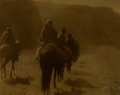 Photographs, EDWARD SHERIFF CURTIS (American, 1868-1952). The Vanishing Race, 1904. Orotone. 11 x 14 inches (27.9 x 35.6 cm). Signed ...