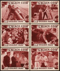 "Movie Posters:Serial, The Black Coin (Stage and Screen Productions, 1936). Lobby Cards (6) (11"" X 14"") Chapter 6 -- ""Shark's Fang."" Serial.. ... (Total: 6 Items)"