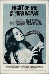 "Night of the Cobra Woman & Other Lot (New World, 1972). One Sheets (2) (27"" X 41""). Horror. ... (Total: 2..."