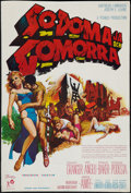 "Movie Posters:Historical Drama, Sodom and Gomorrah (Parvis, 1963). Yugoslavian Poster (16"" X23.5""). Historical Drama.. ..."