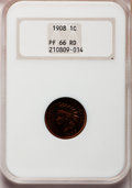 Proof Indian Cents, 1908 1C PR66 Red NGC....