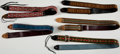 Musical Instruments:Miscellaneous, Lot of 5 Vintage 1970s Guitar Straps. ...