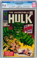 Silver Age (1956-1969):Superhero, The Incredible Hulk #102 (Marvel, 1968) CGC NM+ 9.6 White pages....