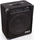 Musical Instruments:Amplifiers, PA, & Effects, 1980s Raven P.R.O. Black Bass Guitar Amplifier....