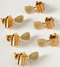 Musical Instruments:Miscellaneous, Set of 6 Gold Gibson Deluxe Tuners....