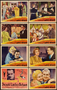 "Should Ladies Behave (MGM, 1933). Lobby Card Set of 8 (11"" X 14""). Comedy. ... (Total: 8 Items)"