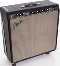 Musical Instruments:Amplifiers, PA, & Effects, 1965 Fender Super Reverb Black Guitar Amplifier, Serial # A10410....