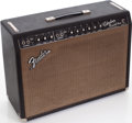 Musical Instruments:Amplifiers, PA, & Effects, 1965 Fender Vibrolux Reverb Black Guitar Amplifier. ...
