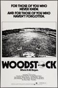 "Movie Posters:Rock and Roll, Woodstock (Warner Brothers, R-1976). One Sheet (27"" X 41"") FlatFolded. Rock and Roll.. ..."