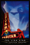 "Movie Posters:Animation, The Lion King (Buena Vista, 1994). El Capitan Theatre One Sheet(27"" X 40"") Advance. Animation.. ..."