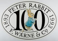 Books:Prints & Leaves, [Broadside]. Peter Rabbit 100th Anniversary PromotionalBroadside. F. Warne, 1993. Approx. 19.5 x 27.5 inches. N...