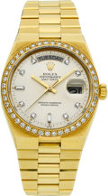 Timepieces:Wristwatch, Rolex Gold Ref. 19048 Oysterquartz Day-Date Wristwatch, circa 1980....