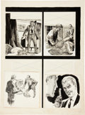 "Original Comic Art:Panel Pages, Bernie Krigstein and Reed Crandall Crime Illustrated #1 ""Fall Guy for Murder"" Page 12 Original Art (EC, 1955)...."