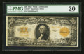 Large Size:Gold Certificates, Fr. 1187* $20 1922 Gold Certificate Star PMG Very Fine 20.. ...