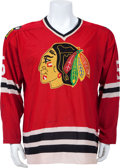 Hockey Collectibles:Uniforms, Late 1960's-Early 1970's No. 5 Game Worn Dallas Black Hawks Jerseyand Trainer's Jacket. ...