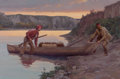 Paintings, DON SPAULDING (American, b. 1916). Going Ashore For the Night, 2000. Oil on canvas. 20 x 30 inches (50.8 x 76.2 cm). Sig...