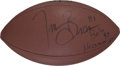 Football Collectibles:Balls, Tim Brown Signed Football - Benefitting A. W. Brown Education Foundation.. ...